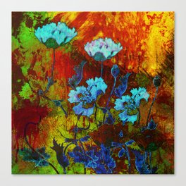 Hello blue poppies! Canvas Print
