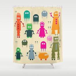 Robots Shower Curtain