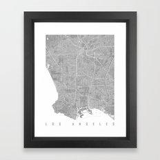 Los Angeles map grey Framed Art Print