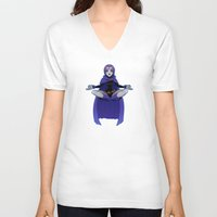 raven V-neck T-shirts featuring Raven by ZoeStanleyArts