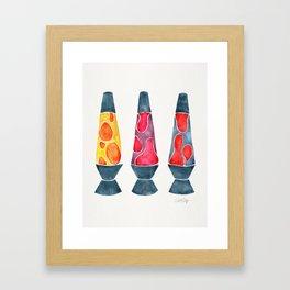 Retro Vibes – Warm Palette Framed Art Print