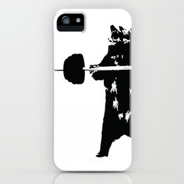 Lifting Bear iPhone Case