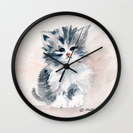 Kitten Portrait Wall Clock