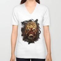 tomb raider V-neck T-shirts featuring Tusken Raider by Sirenphotos