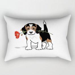 The Love Puppy — Flower Rectangular Pillow
