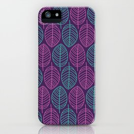 Leaf outlines iPhone Case