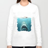 jaws Long Sleeve T-shirts featuring JAWS by Smart Friend