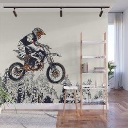 """High Flyer"" Motocross Racer Wall Mural"