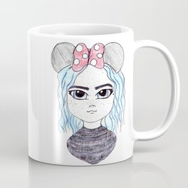 Cute Mouse Ears | Coloured Illustration Coffee Mug