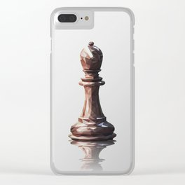bishop low poly Clear iPhone Case