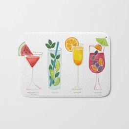 Summer Cocktails Bath Mat