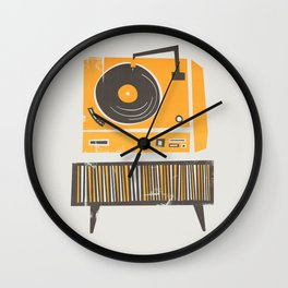Vinyl Deck Wall Clock