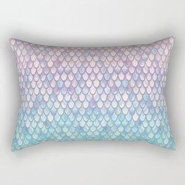 Spring Mermaid Scales Rectangular Pillow