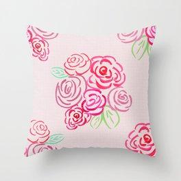 Glorious Rose bunch Throw Pillow