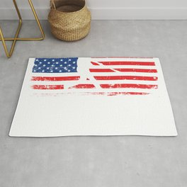 Awesome American Flag Baseball Shirt For Sporty You T-shirt Design Field Bat Home Run Sports Rug