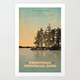 Frontenac Provincial Park Poster Art Print