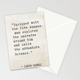 Edwin Hubble quote Stationery Cards