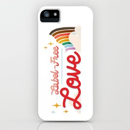 Label Free Love  inspired by The L Word iPhone Case
