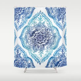 Indian Ink - in Blues Shower Curtain
