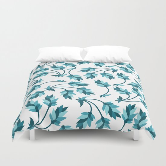 Blue branches pattern Duvet Cover