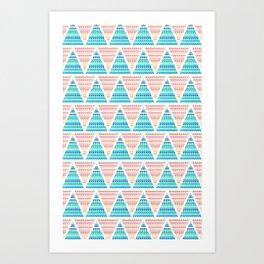 Mixed Aztec Pattern Art Print