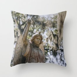 Bonaventure Cemetery Angel II Throw Pillow