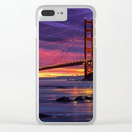San Francisco Print, San Francisco Art, San Francisco, San Francisco Poster, Golden Gate Bridge, Cal Clear iPhone Case