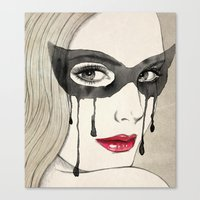 mask Canvas Prints featuring Mask by Vivian Lau