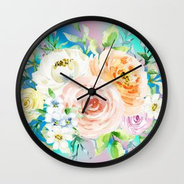 Holo, Vintage and Floral Wall Clock
