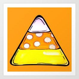 Candy Corn - Orange Art Print