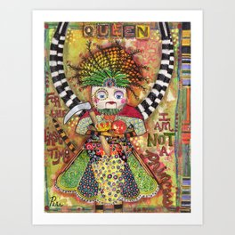 """The Queen"" Original Journal Art by Peri Allen Art Print"