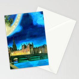 Houses of Parliament and Big Ben at Night Stationery Cards