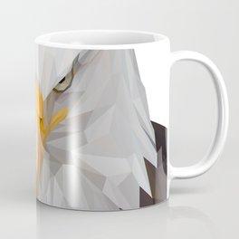 American Eagle Portrait Lowpoly Art Illustration Coffee Mug