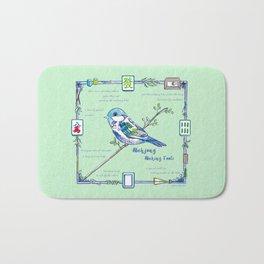 Sparrow Mahjong Bath Mat