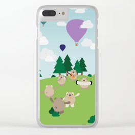 Bear Party Clear iPhone Case