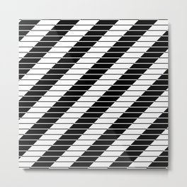 Simply Black And White (Abstract, geometric design) Metal Print
