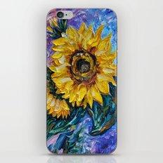 Sunflower (Palette Knife) iPhone & iPod Skin