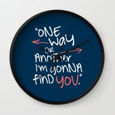 One Way Or Another Wall Clock