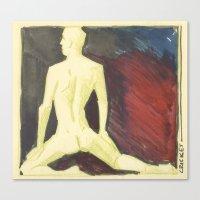 robert farkas Canvas Prints featuring Robert by Azure Cricket