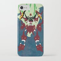 gurren lagann iPhone & iPod Cases featuring TENGEN TOPPA GURREN LAGANN by JHTY