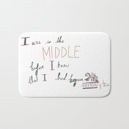 IN THE MIDDLE: PRIDE AND PREJUDICE by JANE AUSTEN Bath Mat