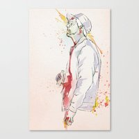 drunk Canvas Prints featuring Drunk by Zombie is You