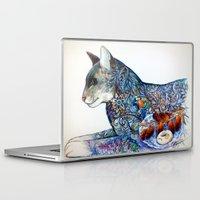 oriental Laptop & iPad Skins featuring Oriental cat by oxana zaika