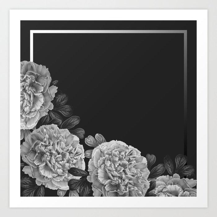 Flowers in the night Art Print