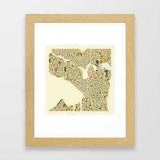 SEATTLE Map Framed Art Print