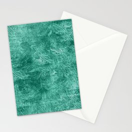 Lucite Green Oil Painting Color Accent Stationery Cards