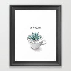 Sexy Succulent Framed Art Print