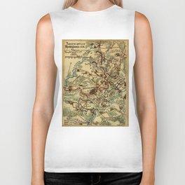 Vintage Spotsylvania Virginia Civil War Map (1865) Biker Tank
