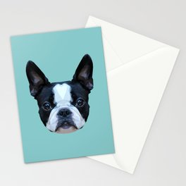 Frenchie / Boston Terrier // Blue Stationery Cards