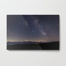Calm night in the alps Metal Print